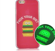 Pink Hamburger Luminated Pattern Hard Back Case for iPhone 6