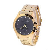 Women's Men's Watch Round Steel Drill Additional China Movement Watch(Assorted Colors)