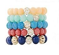 Fashion Sweety Beads Plastic Charm Bracelet(1pc)