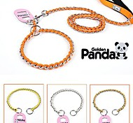 Dog Leashes Adjustable/Retractable Yellow / Orange / Gold / Silver Stainless Steel