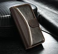 étui en cuir de luxe pour iPhone 5s couvercle 5 flip avec des sacs titulaire de la carte de téléphone pour iphone 5 nouvelle arrivée (de