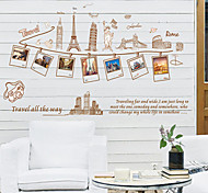 modische Reise rund um die Welt PVC Wandaufkleber Wandkunst Aufkleber