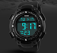 Men's Military Design Digital LCD Screen Black Rubber Band Sport Wrist Watch Cool Watch Unique Watch Fashion Watch