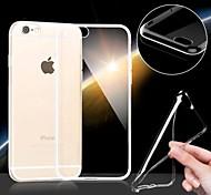 caso ultra suave fina y transparente para el iphone 6