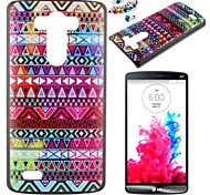 Stripe Pattern PC Back Cover Case With Dustproof Plug for LG G3