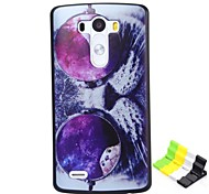 Cat Eyes Pattern PC Hard Case and Phone Holder for LG G3