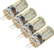 5W G4 LED-maïslampen 27 SMD 2835 300 lm Koel wit Decoratief DC 12 / AC 12 V 4 stuks