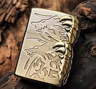 Zorro Bronze Alondra Metal Copper Shell Oil Lighter