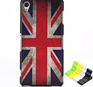 caso duro del patrón de bandera británica PC y soporte para teléfono para z3 xperia sony