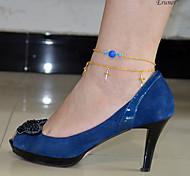 infinito eruner®fashion 2 capa sandalia de la playa pulsera pie tobillera cadena del encanto de la joyería descalza