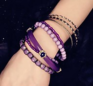 Fashion Korean Purple Couple Alloy Charm Bracelet(1pc)