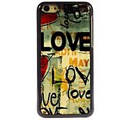 LOVE Design Aluminum Hard Case for iPhone 5C