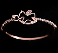 Valentine'S Day The Pony Bracelet Plating Rose Gold Diamond Bracelet