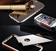 Luxury Clear Mirror With Metal Bumper Back Shell Hard Case Cover for iPhone 6 Plus (Assorted Color)