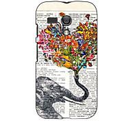 Elephant and Flower Design Hard Case for Motorola MOTO G