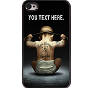 caso personalizado diseño de metal caso del muchacho para el iphone 4 / 4s