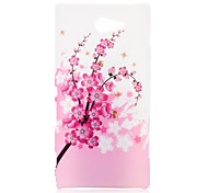 Plum Blossom Pattern Oil Coated PC Hard Back Cover Case for Sony Xperia M2 D2303 D2305 D2306 M2 Dual D2302