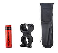 Vulcanfire Flashlights Accessories Pack(1*18650,1*Bicycle Bracket,1*Flashlight Holster)