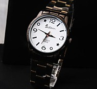 Women's Round Dial Steel Band Quartz Fashion Watch (Assorted Colors)