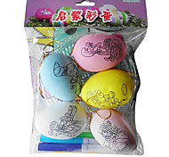 Cartoon Pattern Easter DIY Painted Eggshell ,Plastic 5Pcs/Bag
