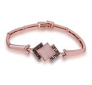 Chaînes & Bracelets 1pc,Or Rose Bracelet Alliage / Strass / Opale / Plaqué Or Rose Bijoux Femme