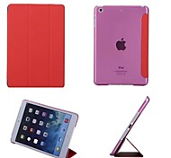 Ultra Slim Tri-Fold PU Leather with Crystal Hard Back Smart Stand Case Cover for iPad mini 3 /2  (Assorted Colors)