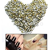 100PCS 2.5mm Punk Mixed Golden&Silver Rivet Nail Art Decoration