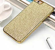 High Grade Leather Glitter Stickers Side PU Back Cover for iPhone 6 Plus(Assorted Colors)