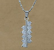 Fashion Wholesale Zircon Pendant Necklace Random Color