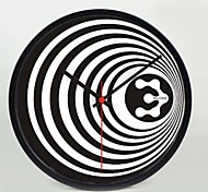 12 INCH Black Stripe  Wall Clock Decorative Painting Hanging Watches Mute Metal Frame
