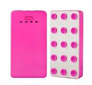 6000mah batería externa ultra delgada banco de la energía de litio portátil con succión para iphone 6 / 5s / Samsung / HTC