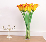 juego de 3 falsos flores orquídea de la PU, color al azar de resina