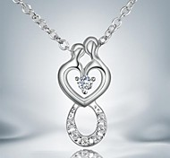 Fashion Simple Silver Plated Alloy Pendant Necklace(1pc)