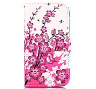 Pfirsichblüte Muster Brieftasche Stil stehen Kreuz Textur-PU-Leder Tasche für HTC Desire 500