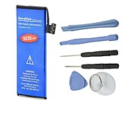 High Capacity 3.7V 3030mAh Dual-cell Li-ion Battery with Demolition Distribution Installation Tools for Iphone 5G (Blue)