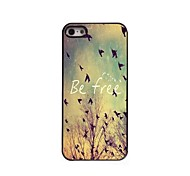 Be Free Pattern Aluminum Hard Case for iPhone 5/5S