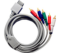 1.8M 5.904FT Wii 30Pin to 5RCA M/M WII HD Video Audio TV Display Connection Cable for Wii Support 1080P
