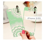 Matte Front and Back Skin Sticker for iPhone 5/5S