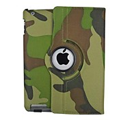 Fashion Camouflage Series PU Full Body Case with Stand for iPad 2/3/4