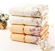 "Bath Towel, 2 Colors Lace Edge 100% Cotton Untwisted Yarn Women's Towel 55""*29"""