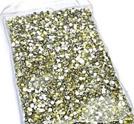 3MM Fashion Champagne Acrylic Flatback Faceted Round Sticky Rhinestones Gems(1000 Pcs)