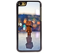 In the Lamp Light Wooden Man Design Aluminum Hard Case for iPhone 5C
