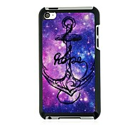Anchor Leather Vein Pattern Hard Case for iPod touch 4