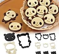 Arnest Panda Cookie Mould Set Japan Cartoon Cake Chocolate DIY Stereo Baking Tool