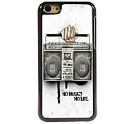 caso duro de radio diseño de aluminio para 5c iphone