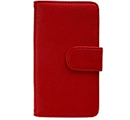 Luxury PU Leather Flip Case Cover with Card Slot And Stand for Nokia Lumia 530