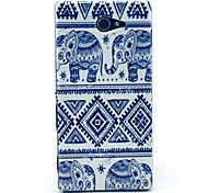 Elephant Carpet Pattern Clearly PC Hard Case for Sony Xperia M2 S50h