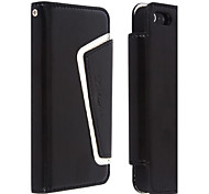 Skin Grain PU Leather with Card Solt and Stand Case for iPhone 5/5S