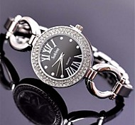 Women's  Diamond Fashion Bracelet Watch   Circular High Quality Japanese Watch Movement(Assorted Colors)