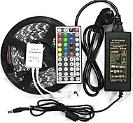 wasserdichte 5m 300x5050 SMD LED flexible Streifen Lampe IP65 DC 12V 44 befestigt IR-Controller + 12v 6a eu-Netzteil